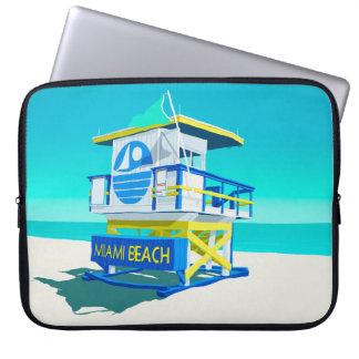 Miami Beach-Hütte Laptopschutzhülle