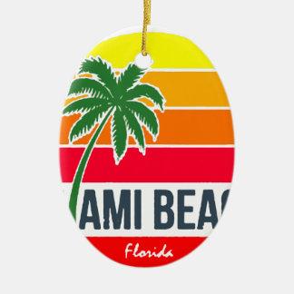 Miami Beach Keramik Ornament