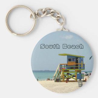 Miami Beach-Leibwächter-Bretterbude Schlüsselanhänger
