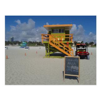 Miami Beach-Leibwächter-Ozean-Patrouille #04 Postkarte