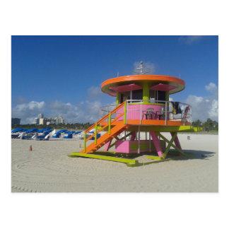 Miami Beach-Leibwächter-Strand-Patrouille #01 Postkarte