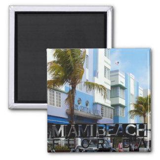 Miami Beach Quadratischer Magnet