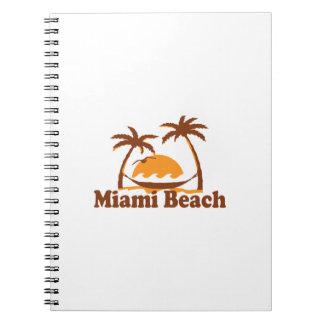Miami Beach. Spiral Notizblock