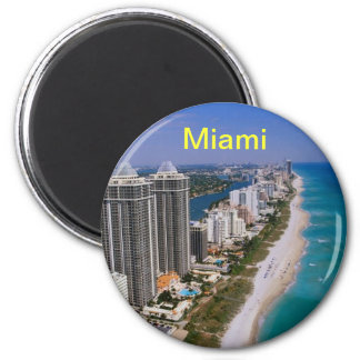 Miami- Beachmagnet Runder Magnet 5,1 Cm