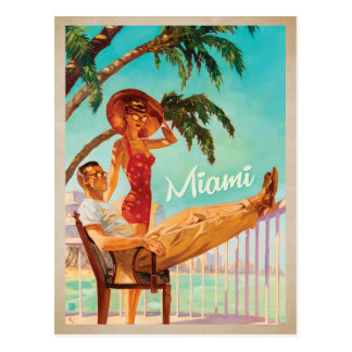Miami, FL - Paar Postkarte