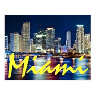 Miami, Florida, die magische Stadt nachts Postkarte