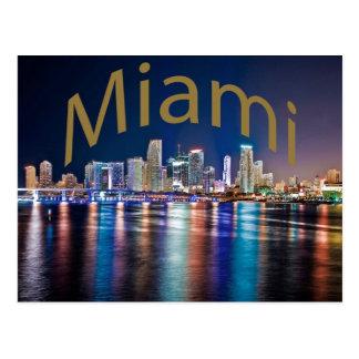 Miami, Florida, die magische Stadt nachts Postkarten