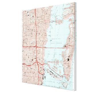 Miami Florida Map (1994) Leinwanddruck