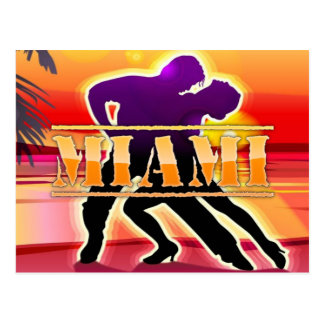 Miami-Frau und Mann-Tanzen-Postkarte