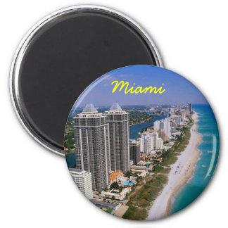 Miami-Kühlschrankmagnet Runder Magnet 5,7 Cm