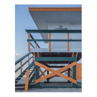 Miami-Leibwächter-Strand-Haus Postkarte