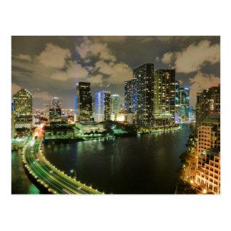Miami nachts postkarten