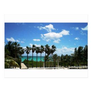 Miami-Ozean-Terrasse Postkarte