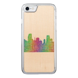 Miami-Skyline Carved iPhone 8/7 Hülle