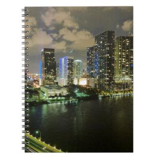 Miami-Skylinenacht Spiral Notizblock