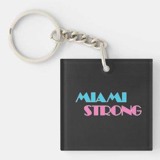 Miami starkes schwarzes keychain schlüsselanhänger