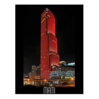 Miami-Turm, Reflexionen des Rotes Postkarte