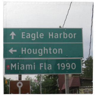 Miami-Zeichen Stoffserviette