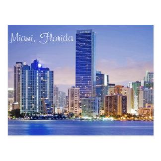 Miamis Brickell Alleen-Skyline Postkarte
