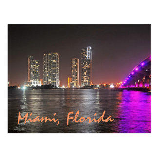 Miamis Wynwood Skyline Postkarte