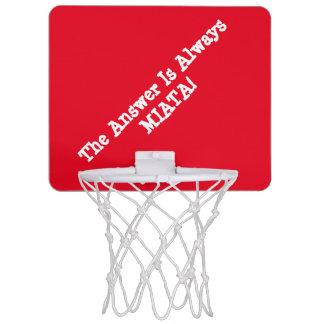 "Miata Basketballkorb ""die Antwort ist immer MIATA Mini Basketball Netz"