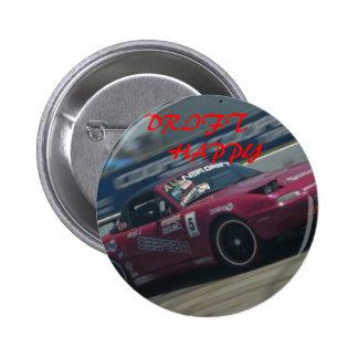 miata Drifter, TREIBEN       GLÜCKLICHES Runder Button 5,7 Cm