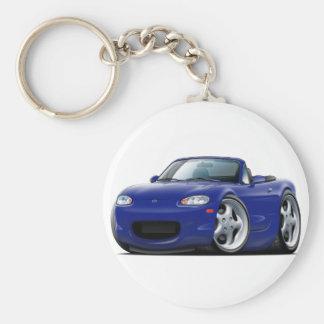 Miata dunkelblaues Auto 1999-05 Schlüsselanhänger