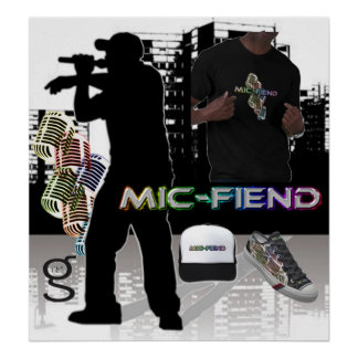 Mic-Unhold-angesagtes Hopfenplakat von bin- mir Poster