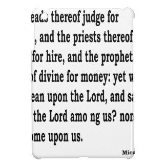 Micah 3:11 iPad mini hülle
