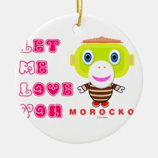 Mich gelassen Liebe Sie-Niedlicher Affe-Morocko Keramik Ornament