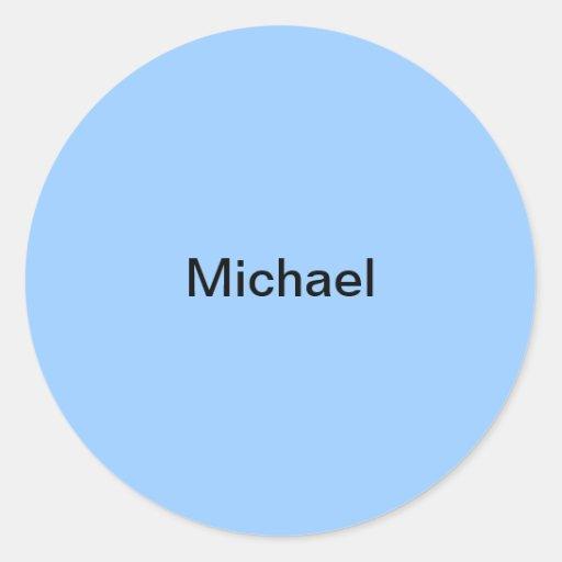 Michael scherzt Namensaufkleber-personalisiertes h Runder Aufkleber