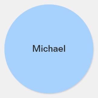 Michael scherzt Namensaufkleber-personalisiertes Runder Aufkleber