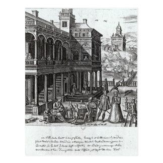 Michel de Nostradame, das konsultiert wird Postkarte