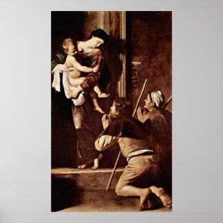 Michelangelo DA Caravaggio - Madonna der Pilger Poster