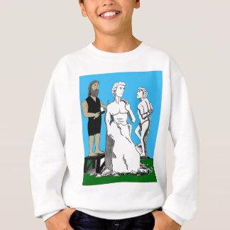 Michelangelo, der David schnitzt Sweatshirt