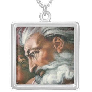 Michelangelo-Gott in der Schaffung von Adam Versilberte Kette