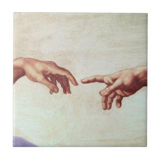 Michelangelo-Hände Fliese