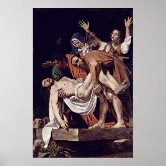 Michelangelo Merisi DA Caravaggio - Entombment Poster
