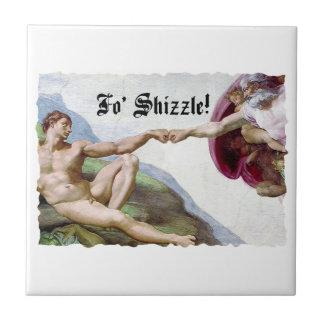 Michelangelo-Schaffung des Mann-Faust-Stoßes FO Keramikfliese