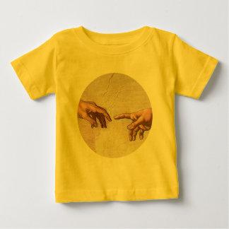 Michelangelo-Schaffung von Adam Baby T-shirt