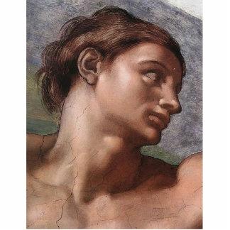 Michelangelo-Schaffung von Adam Freistehende Fotoskulptur
