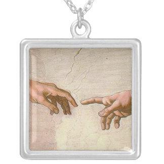 Michelangelo-Schaffung von Adam Versilberte Kette