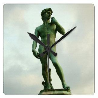 Michelangelos David 2 Quadratische Wanduhr