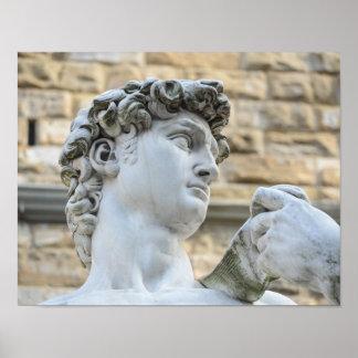 Michelangelos David, Florenz Italien Poster