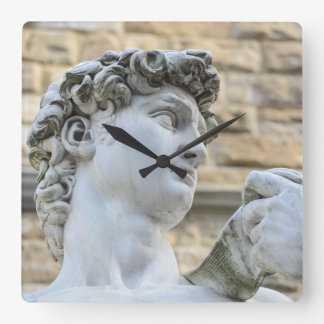 Michelangelos David, Florenz Italien Quadratische Wanduhr