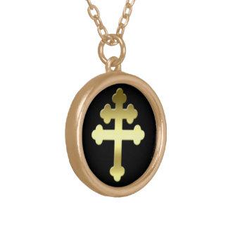 Michelle Kreuz von Loraine-Franzosen Croix Vergoldete Kette