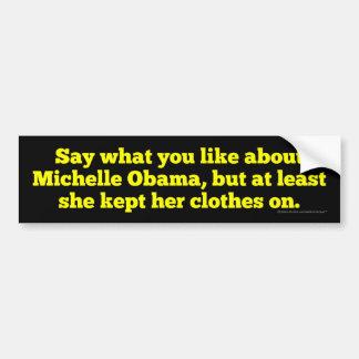 Michelle Obama behielt sie Kleidung an Autoaufkleber