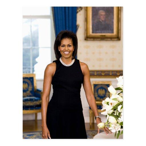 """Michelle Obama """"Ihr Text-hier"""" Postkarte"""