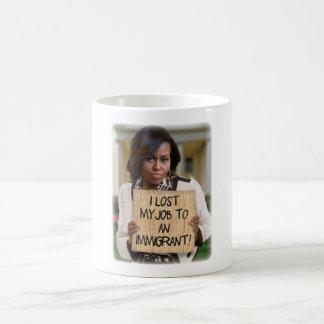 Michelle Obama - verlorener Job zu einer Kaffeetasse