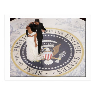 Michelle und Barack Obama Postkarte
